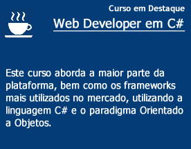 Curso de destaque - WEB DEVELOPER CSHARP