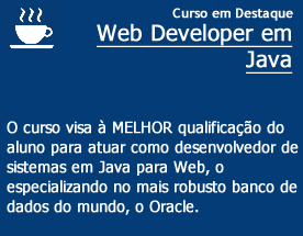 Curso de destaque - WEB DEVELOPER JAVA