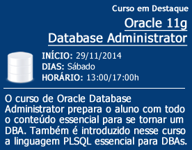 Curso de destaque - ORACLE DBA