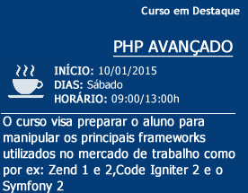 Curso de destaque - WEB DEVELOPER PHP